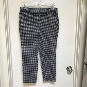Old Navy Pixie Pant Black & White Houndstooth 10